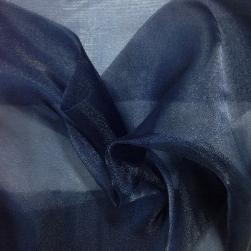 Superior Dark Navy Blue Organza Fabric 60