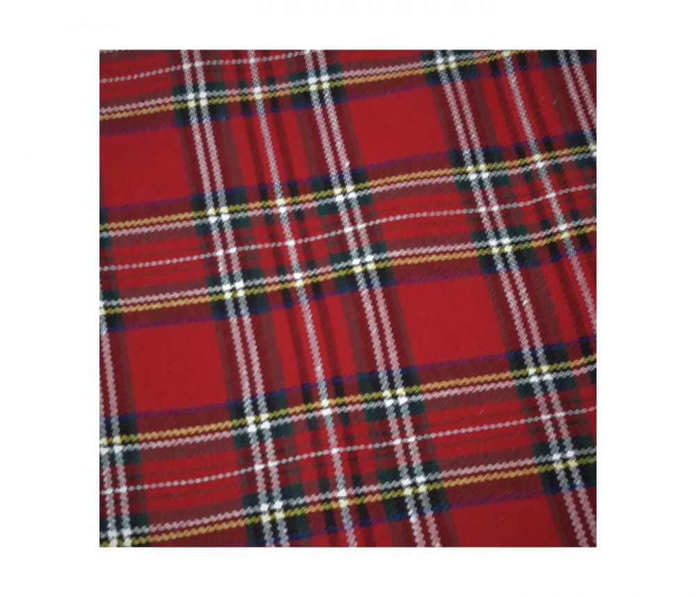 black & white large tartan check fabric