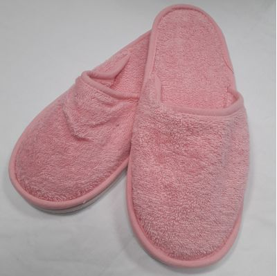 pink womens terry slippers