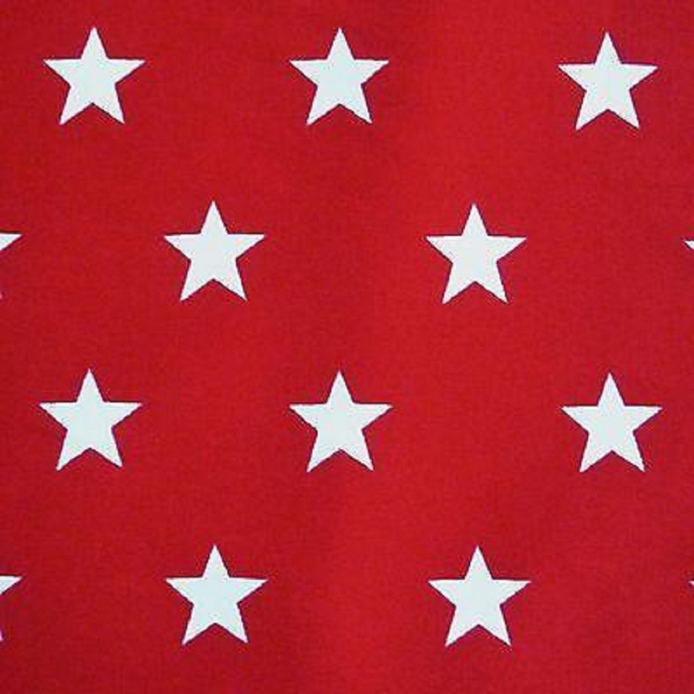 White Star on Blue Printed  Polycotton Fabric 45