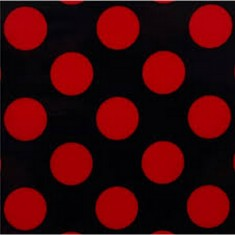 Red Large Polka Dot Fabric 45