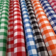 Printed Gingham Check Fabric
